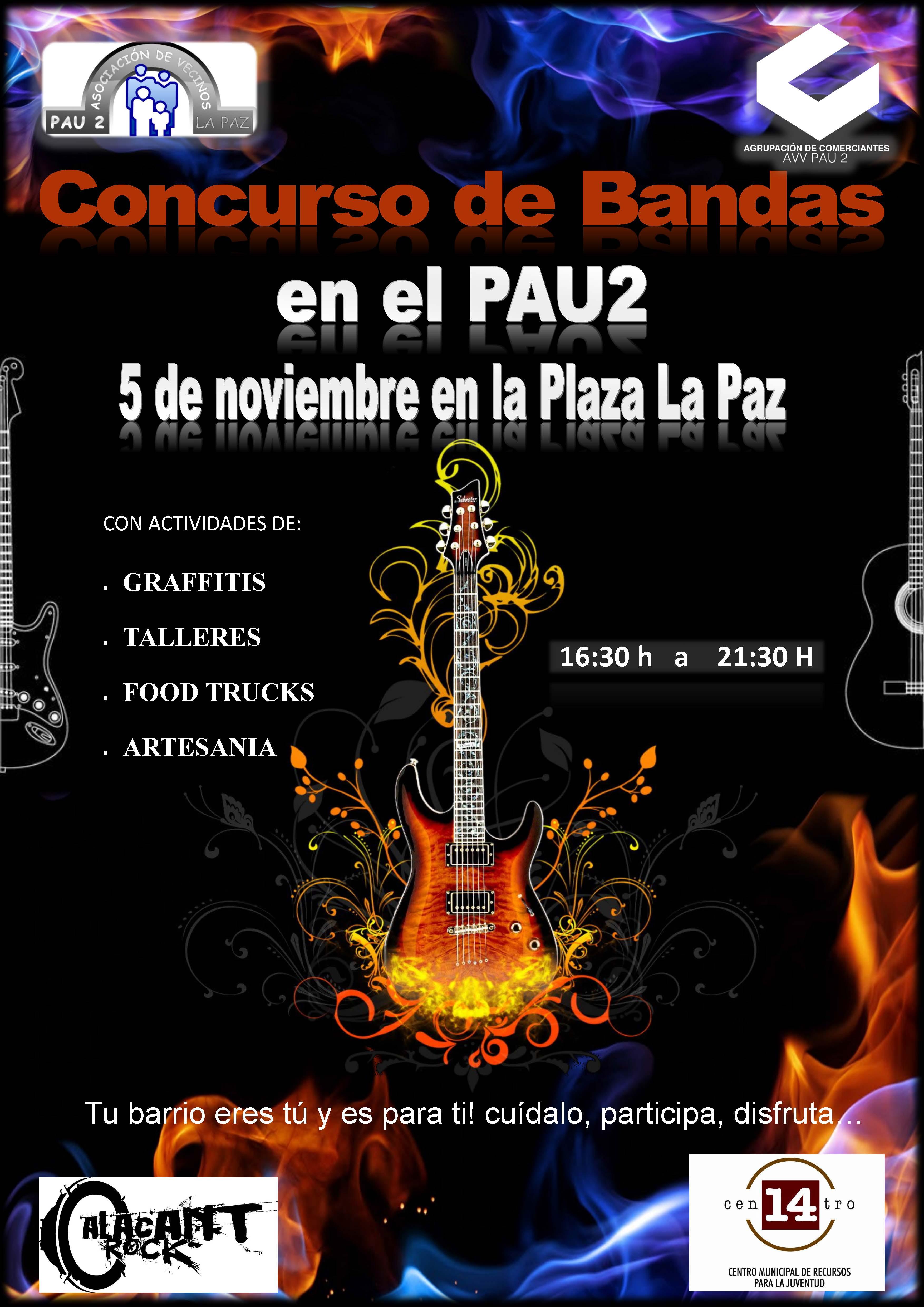 Cartel Concurso Bandas de música (05-11-2017)