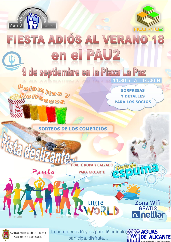 Cartel Fiesta Fin de Verano`18 (9-09-2018)